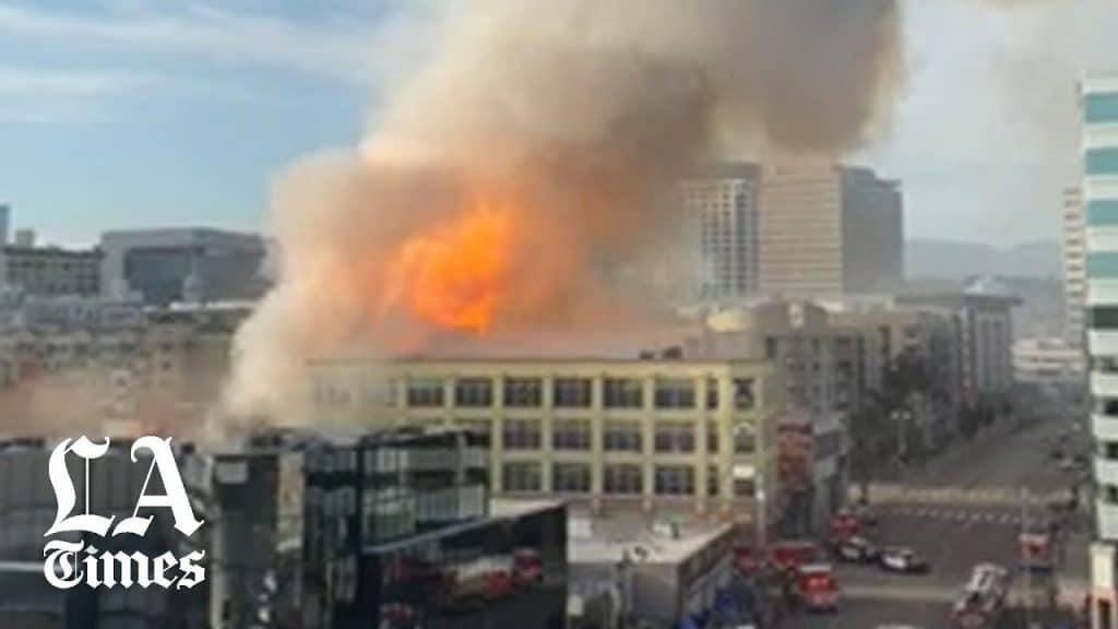 Downtown L.A. Massive Explosion!!!