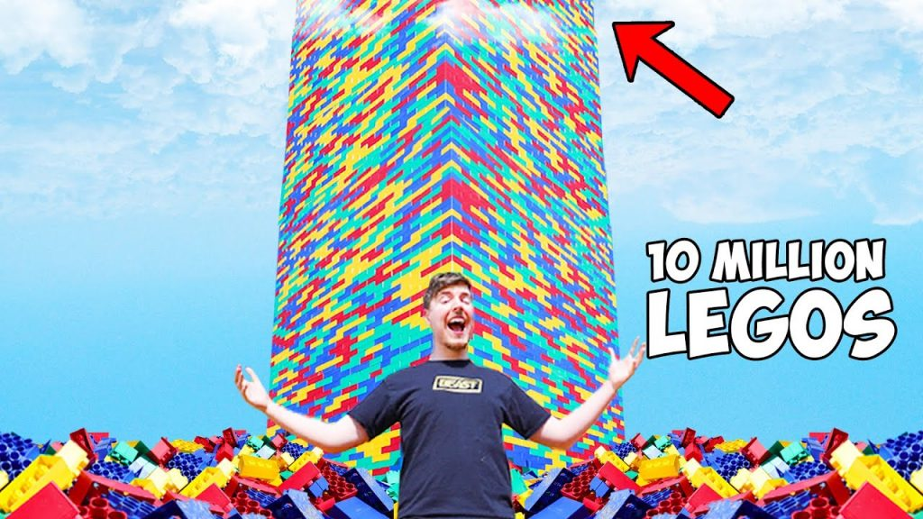 MrBeast Built The World's Largest Lego Tower